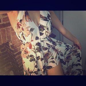 Beautiful floral romper dress